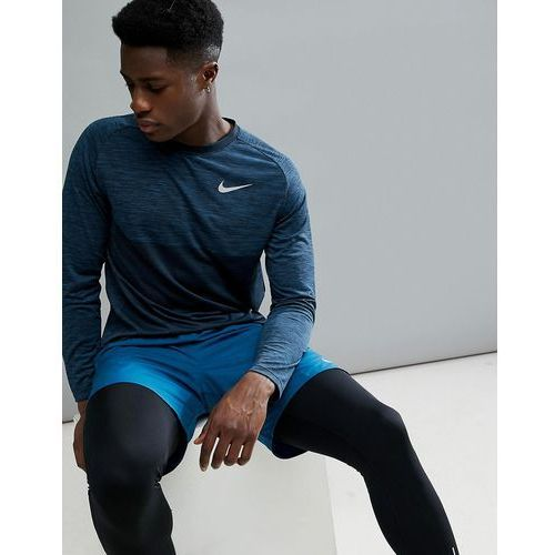 dry medalist knitted long sleeve top in blue 891424-474 - blue, Nike running