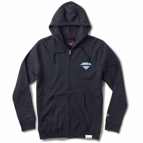 Bluza - viewpoint zip hoodie sp18 navy (nvy) rozmiar: l marki Diamond