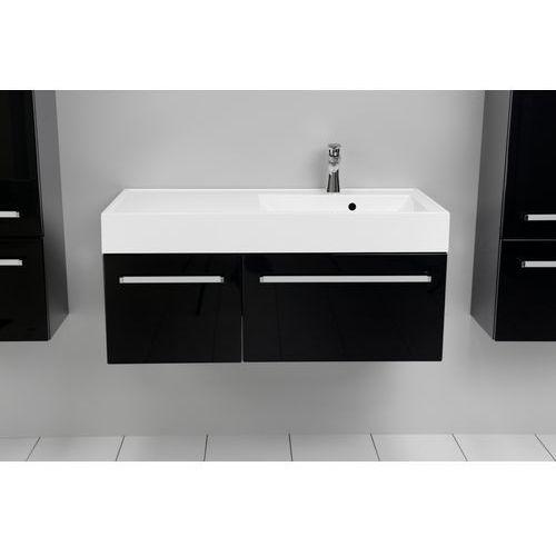 Antado  variete szafka z umywalką, wisząca 100 czarny połysk fm-442/6gt-9017 + fm-442/4gt-9017 + unam-1004p (5906245658509)