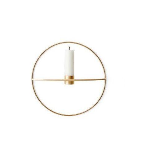 Świecznik pov circle ścienny na świeczkę, s, mosiądz - marki Menu