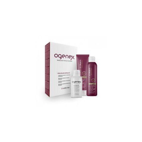 Inebrya Ogenex Pro-Color, zestaw odbudowujący do włosów farbowanych, 100+125+70ml