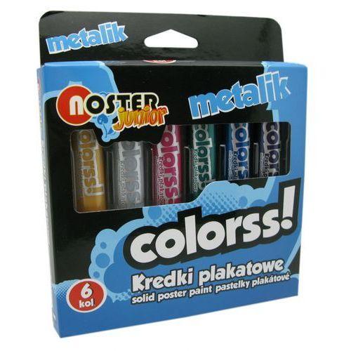 Kredki plakatowe 6 kolorów metalic NOSTER (5907078120843)