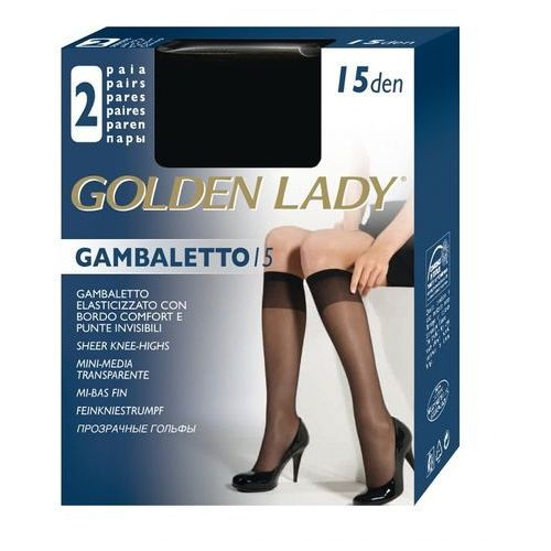 Golden lady Podkolanówki gambaletto| 15 den a'2 uniwersalny, beżowy/melon, golden lady