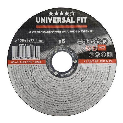 Universal Zestaw tarcz inox 125 x 1 mm 5 szt. (3663602811909)