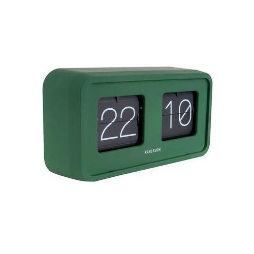 Zegar stołowy Bold Flip matt green by Karlsson, kolor zielony