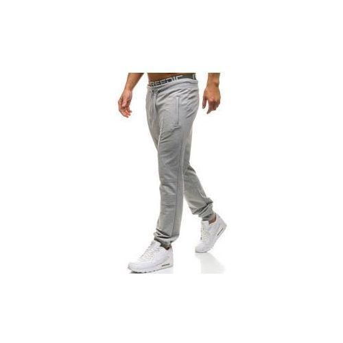 Spodnie męskie dresowe joggery szare denley w2669 marki Red fireball