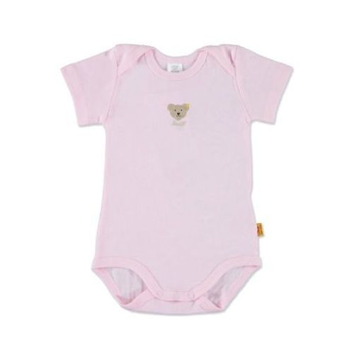 Steiff girls baby body z rękawem 1/4 barely pink