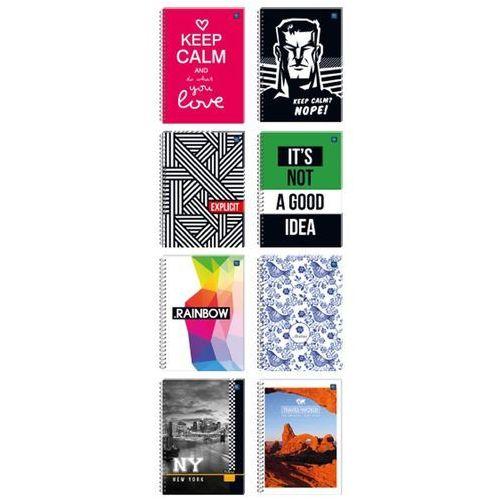 Kołozeszyt b5/160 kartek kratka z kolorowym marginesem [5 szt.] marki Interdruk