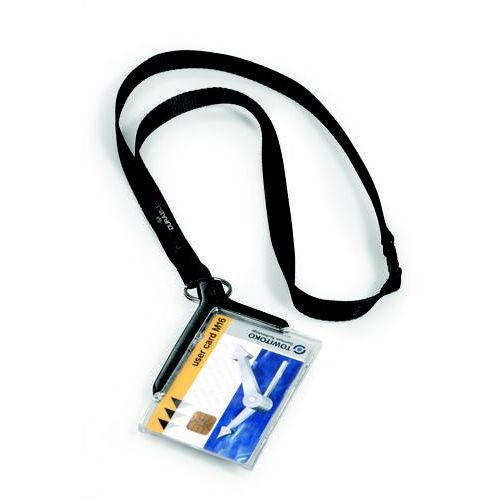 Card Holder Durable De Luxe etui do kart ze smyczą 10 sztuk 8207-58 (4005546805368)