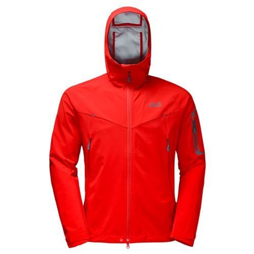Kurtka softshellowa gravity flex jkt men - fiery red, Jack wolfskin
