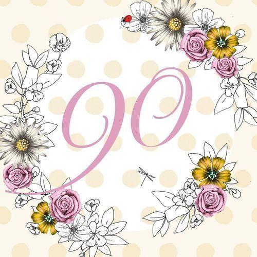 Karnet swarovski kwadrat cl1490 urodziny 90 kwiaty marki Clear creations