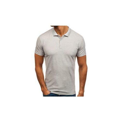 Koszulka polo męska szara denley hs2005 marki J.style