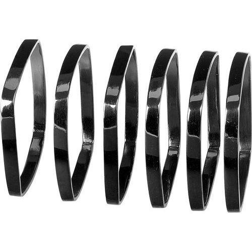 Obrączki na serwetki Fino Blomus czarny nikiel, 6 sztuk (B63742)