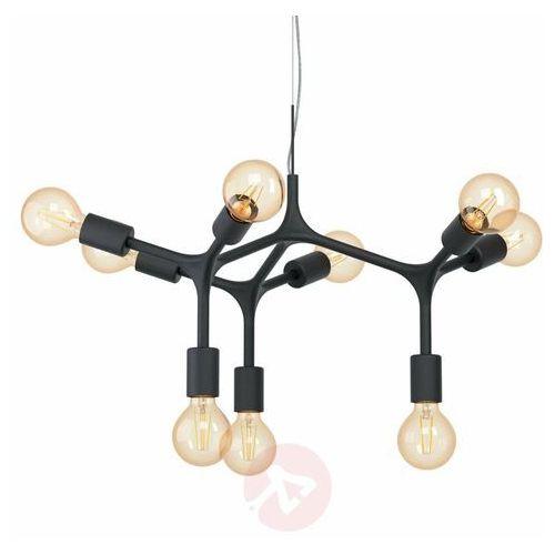 Eglo Bocadella 98346 lampa wisząca zwis oprawa 9x60W E27 czarna, kolor Czarny