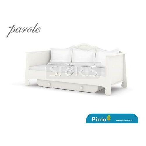 PINIO Parole Łóżko 200x90 MDF białe - biały uchwyt - 016-060-110
