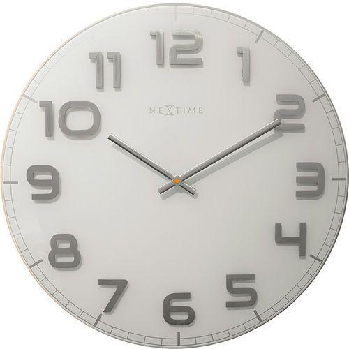Zegar ścienny Classy Nextime 50 cm, biały (3105 WI), kolor biały