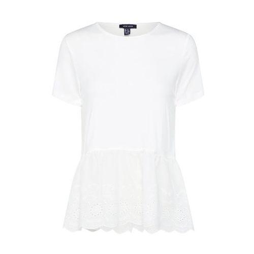 NEW LOOK Koszulka 'VE MIX BRODERIE PEPLUM TOP' weiß
