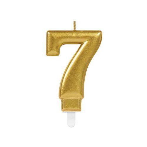 Amscan Świeczka cyferka złota siedem - 7