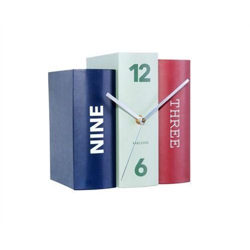 :: zegar stołowy book wielokolorowy marki Karlsson