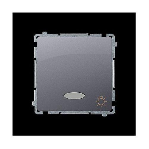 Przycisk światło z podświetleniem (moduł) 10AX, 250V~, zaciski śrubowe; stal inox