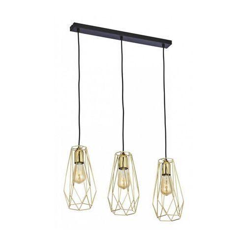 TK Lighting 2698 - Żyrandol na lince LUGO 3xE27/60W/230V, kolor Złoty,