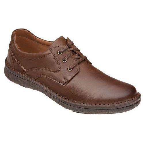 Półbuty sznurowane buty KRISBUT 4398-9-9 Brązowe - Brązowy, kolor brązowy