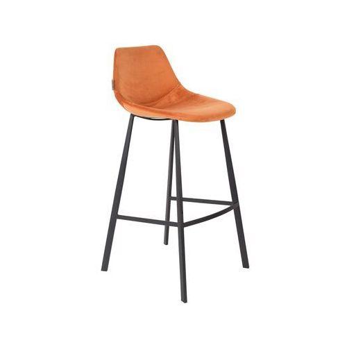 Dutchbone stołek barowy franky pomarańczowy 1500072 (8718548040533)
