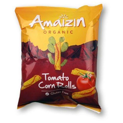 Chipsy kukurydziane rolls o smau pomidorowym BIO bezgluten 100g (8717496903716)