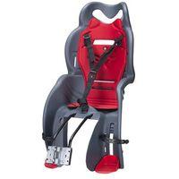 Htp design Fotelik rowerowy sanbas mocowany do rury podsiodłowej szaro-czerwony