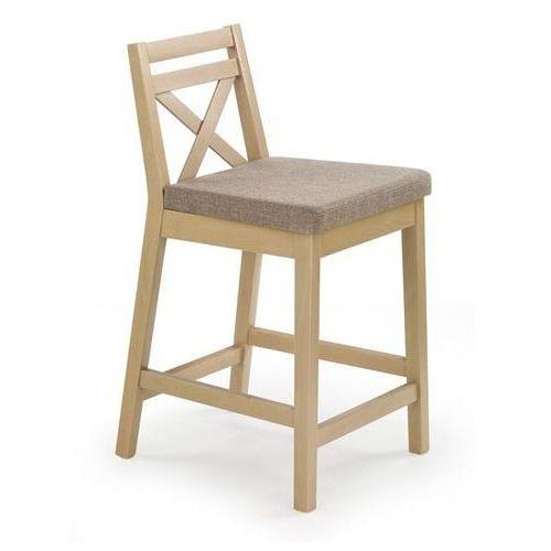 Niskie krzesło barowe w kolorze dąb sonoma borys low marki Halmar