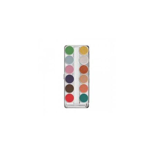 Kryolan aquacolor interferenz, paleta 12 farb do twarzy i ciała