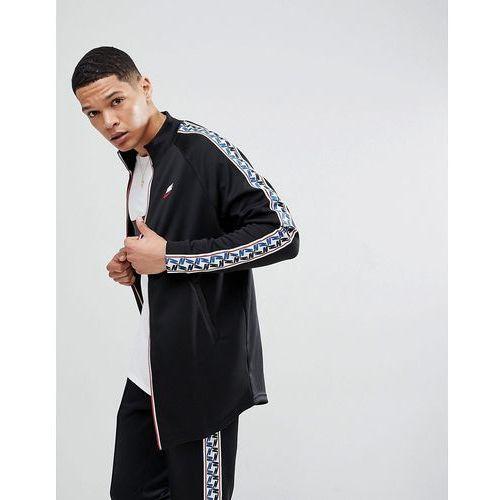 track jacket with taped side stripe in black aj2681-010 - black, Nike