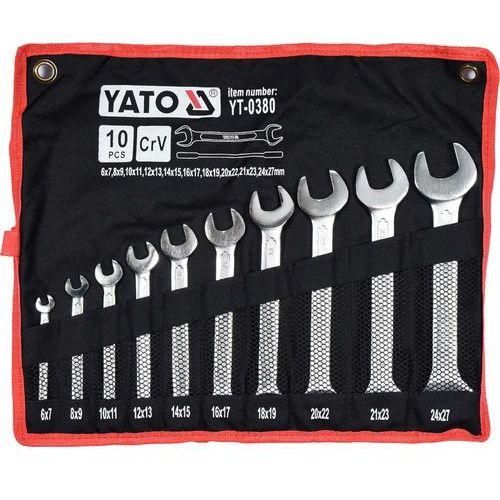 Yato Zestaw kluczy płaskich yt-0380 6 - 27 mm (10 elementów) + darmowy transport! (5906083903809)