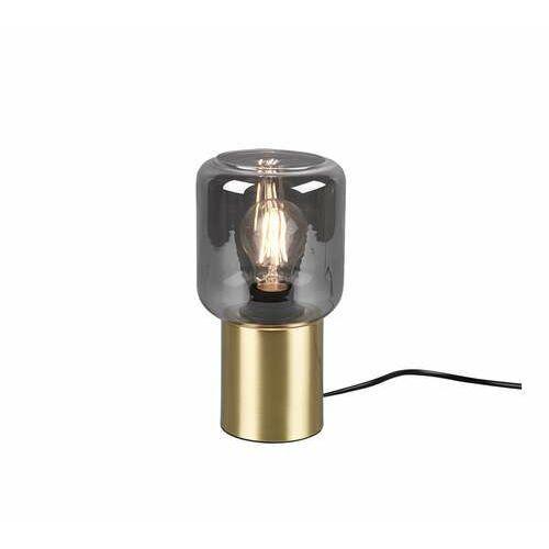 Trio RL Nico R50591008 lampa stołowa lampka 1x40W E27 brązowa/dymiona (4017807463798)