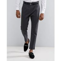 tapered fit trousers with pleat detail - grey, Selected homme