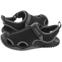 Sandały swiftwater mesh deck sandal black 205289-001 (cr171-b) marki Crocs
