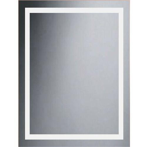Lustro łazienkowe z oświetleniem wbudowanym BRAVO 60 x 80 DUBIEL VITRUM, kolor biały