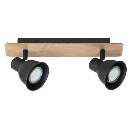 Listwa mac 5903 lampa sufitowa 2x15w gu10 czarna/brązowa marki Rabalux