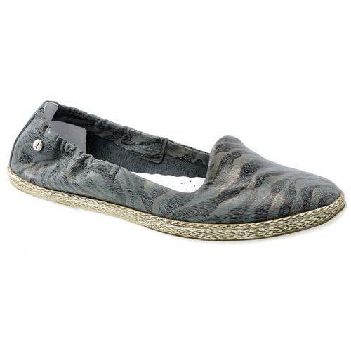 Baleriny Lemar 10037 zebra szara, kolor szary