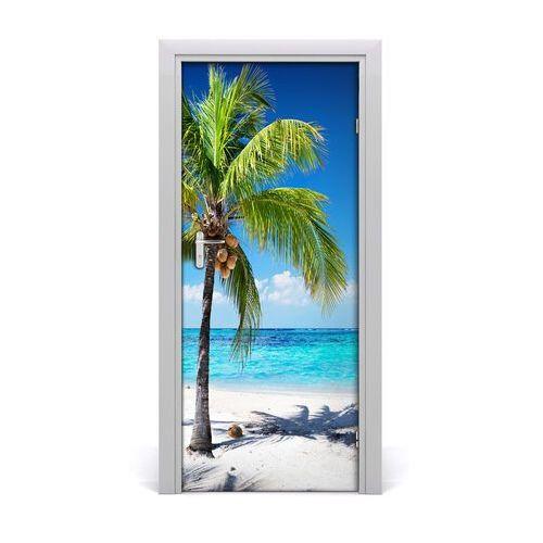 Naklejka na drzwi samoprzylepna Tropikalna plaża