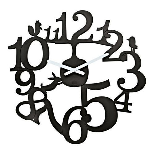 Koziol - zegar ścienny PI:P - czarny - czarny, kolor czarny