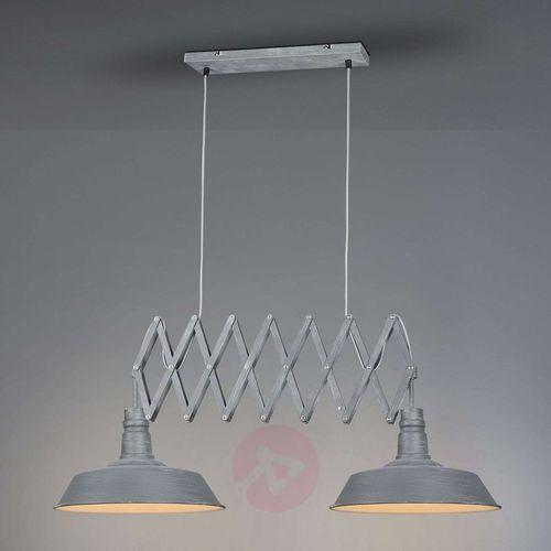 Trio Leuchten DETROIT Lampa Wisząca Siwy, 2-punktowe - Nowoczesny - Obszar wewnętrzny - DETROIT - Czas dostawy: od 6-10 dni roboczych