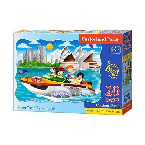 Puzzle maxi konturowe:motor yacht trip in sydney 20 - marki Castor