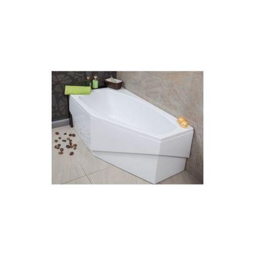 OKAZJA - Polimat Polimat marika wanna asymetryczna 140x80 cm lewa + obudowa + syfon 00682/00684/19975 140 x 80 (00682)