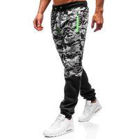Spodnie męskie dresowe joggery szare Denley 55022, dresowe