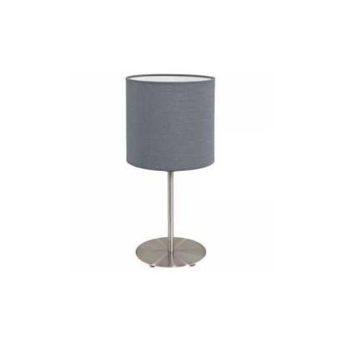 Eglo Lampka stołowa pasteri 31596 z abażurem 1x60w e27 szara