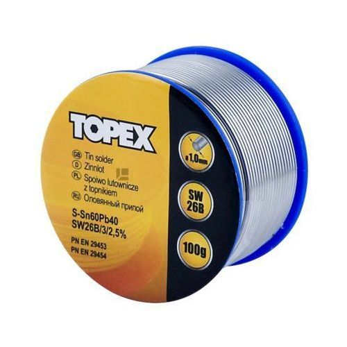 Topex Lut cynowy 60% sn, drut 1.0 mm, 100 g