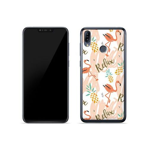 Etuo fantastic case Asus zenfone max (m2) (zb633kl) - etui na telefon fantastic case - różowe flamingi