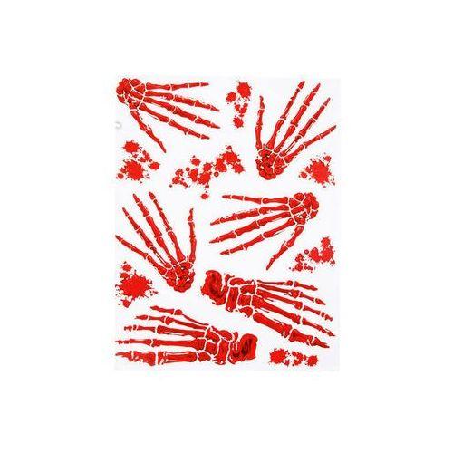 Krwawe ślady dłonie i stopy kościotrupa - 6 szt. marki Carnival