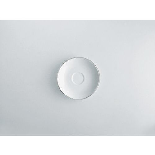 sg70/77 'mami platinum' mokka dolna 6 sztuki z białej porcelany z wzorem, średnica 11 cm marki Alessi